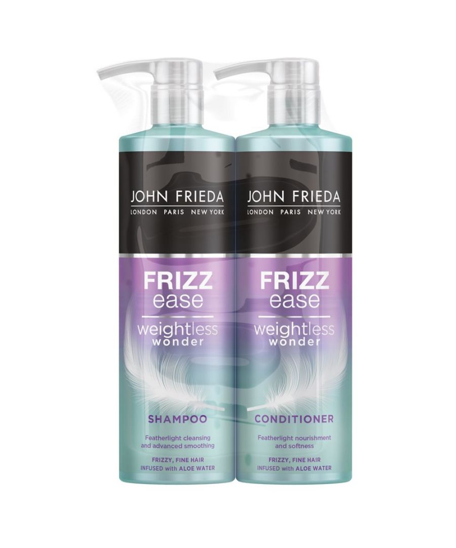 Image for John Frieda Frizz Ease Weightless Wonder Fine Hair Shampoo & Conditioner 500ml Duo Pack