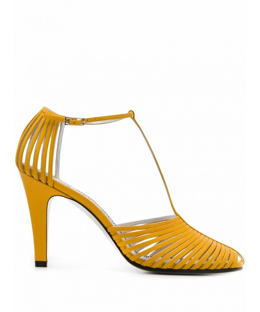 Image for GIVENCHY WOMEN'S BE3042E0N1715 YELLOW LEATHER HEELS
