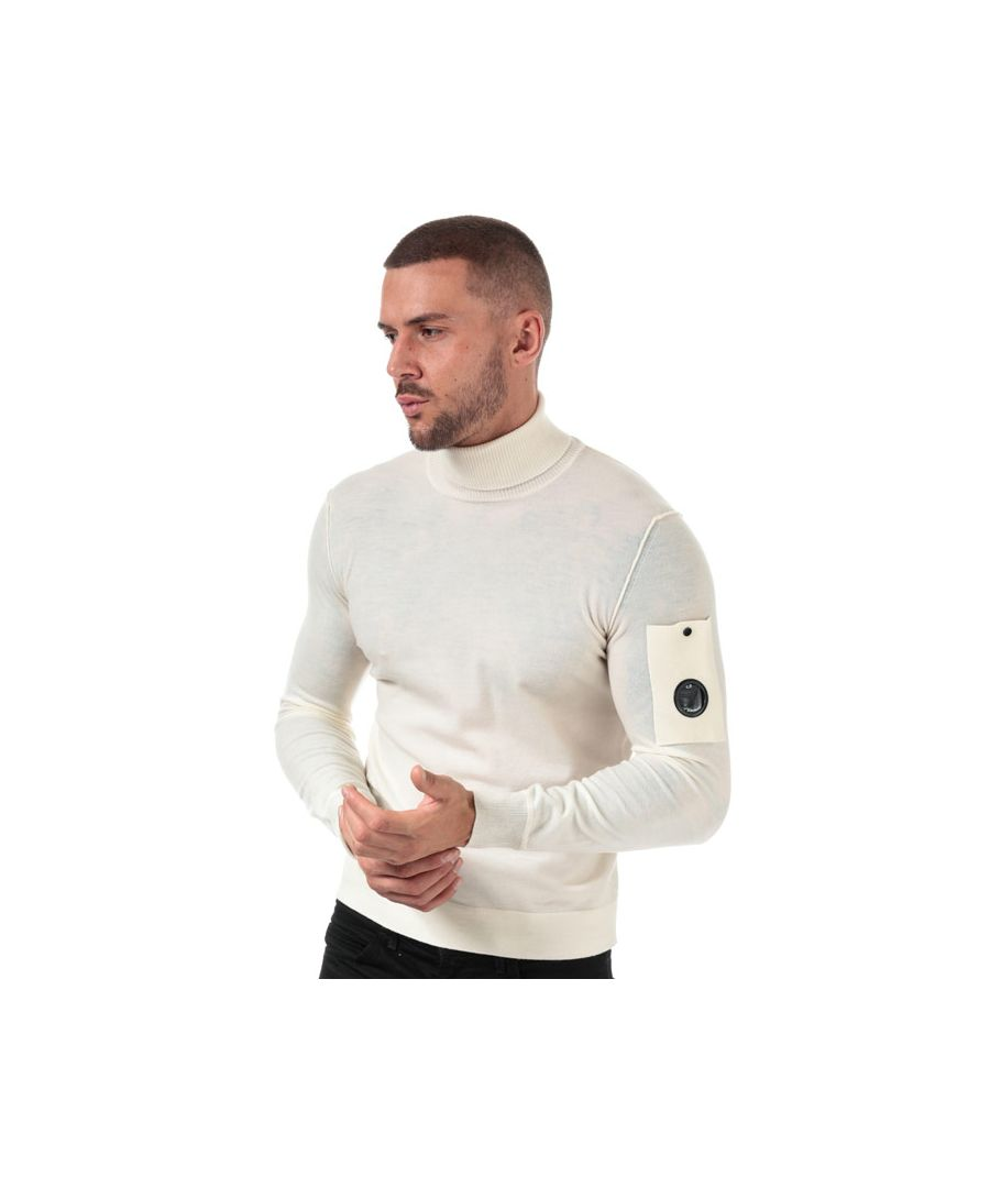 Image for Men's C.P. Company Knitted Roll Neck in White