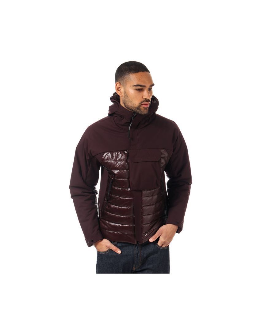 Image for Men's C.P. Company Half Shell Padded Jacket in Burgundy