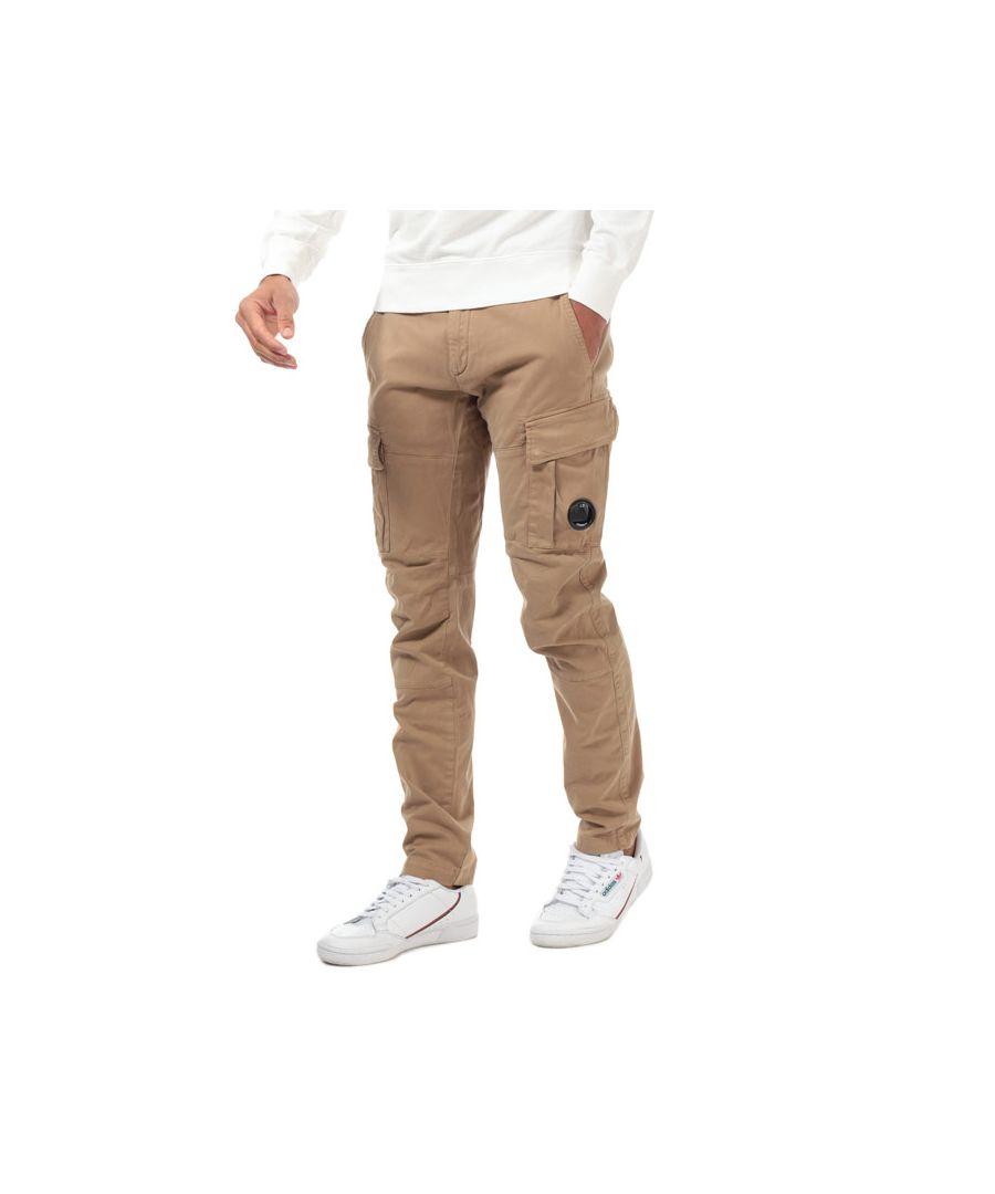 Image for Men's C.P. Company Lens Cargo Pants in Beige