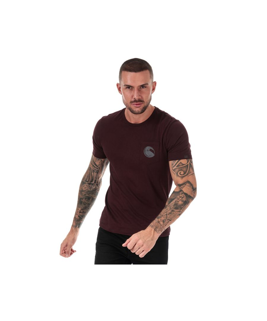 Image for Men's C.P. Company Printed Goggle T-Shirt in Burgundy