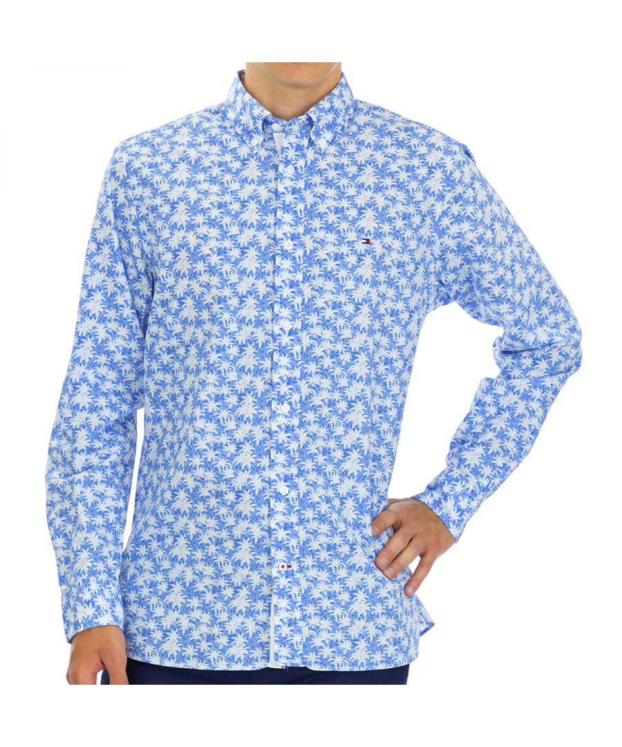 Image for Tommy Hilfiger Men's Shirt Regular Fit Full Sleeve Multicolor