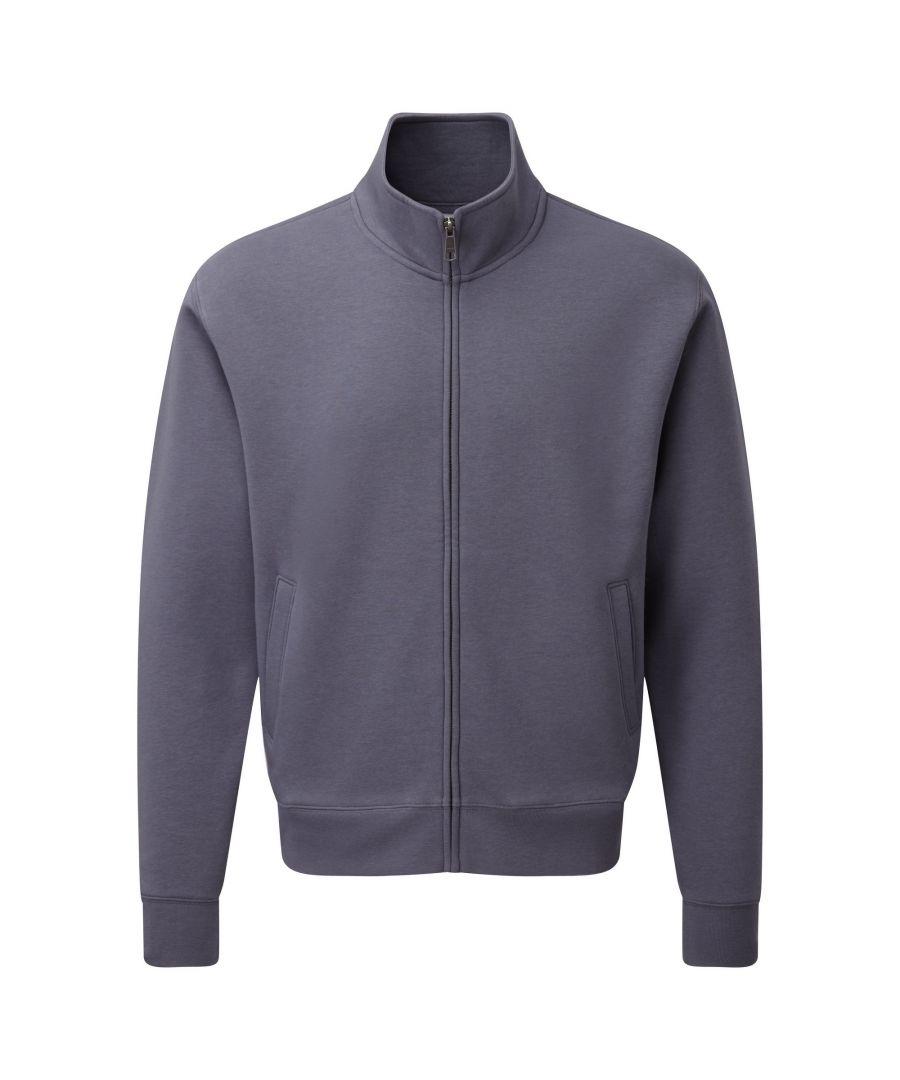 Image for Russell Mens Authentic Full Zip Sweatshirt Jacket (Convoy Grey)
