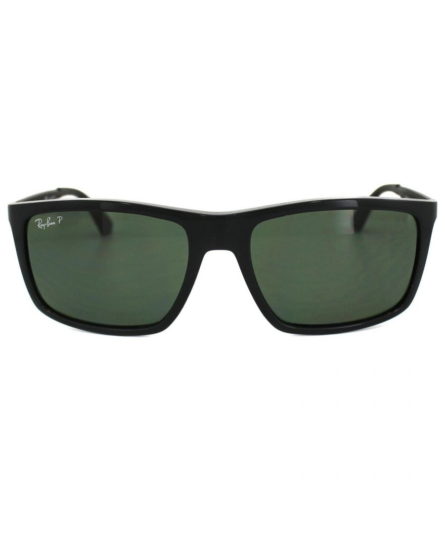 Image for Ray-Ban Sunglasses 4228 601/9A Black Green Polarized
