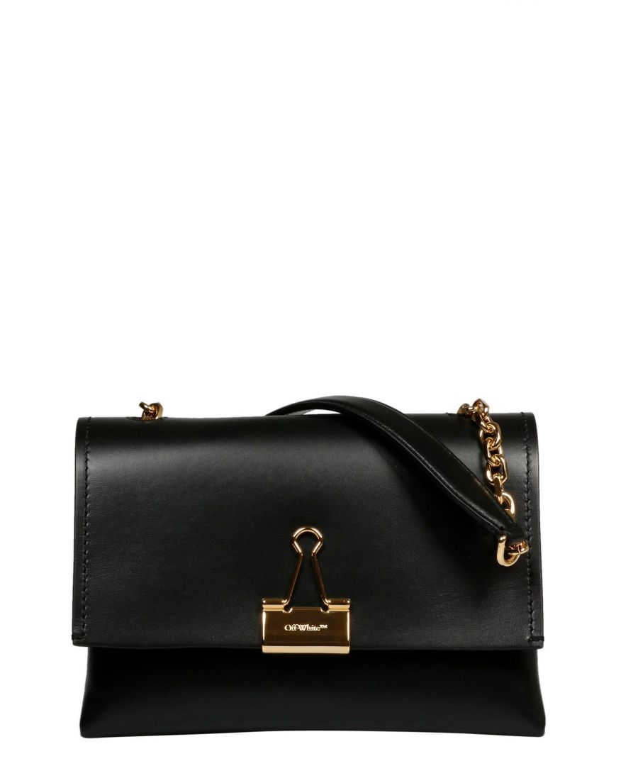 Image for OFF-WHITE WOMEN'S OWNA120S20LEA0011000 BLACK LEATHER SHOULDER BAG