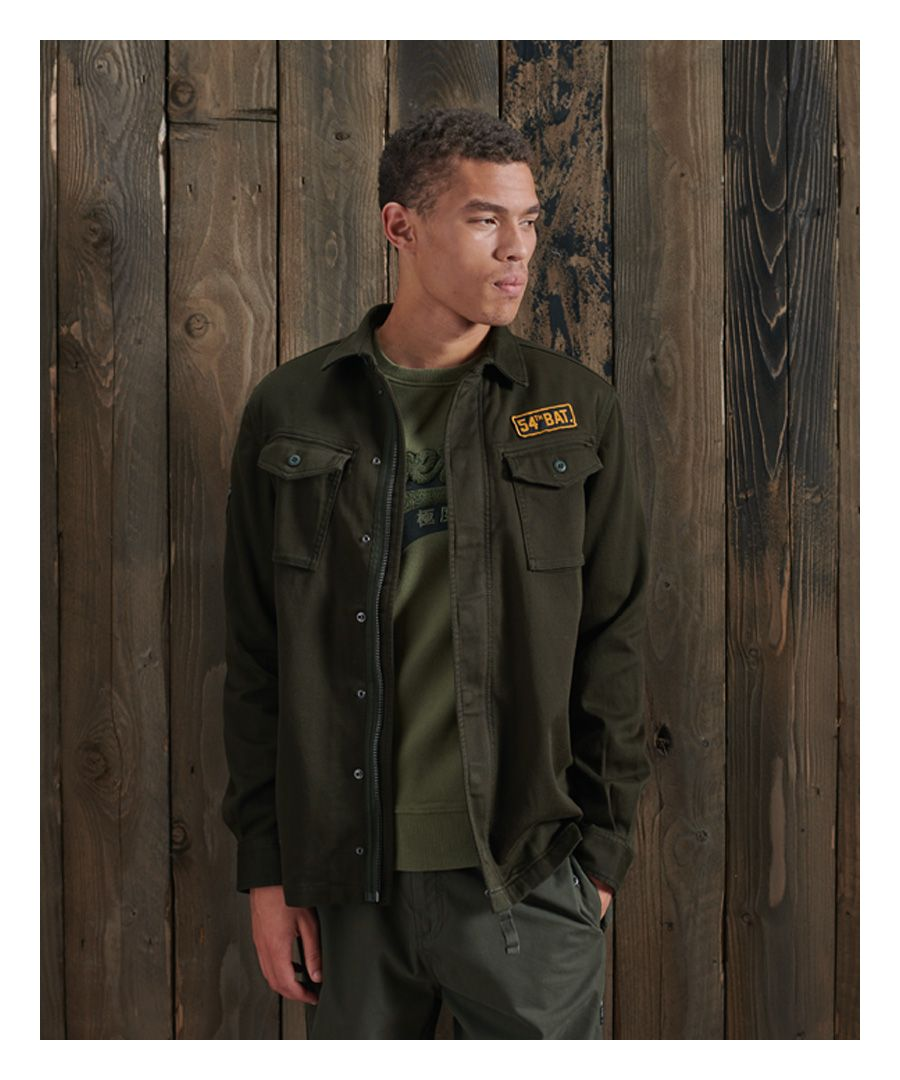 Image for Superdry Core Military Patched Shirt