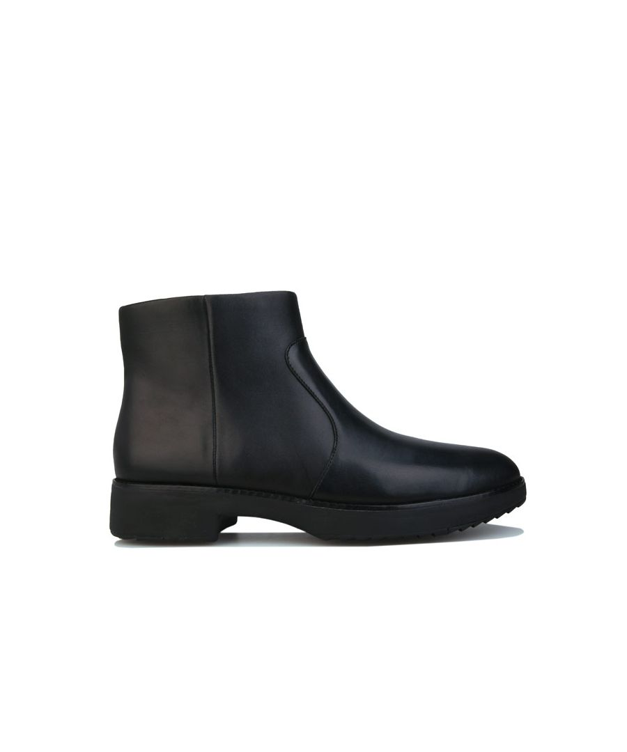 Image for Women's Fit Flop Maria Leather Boots in Black