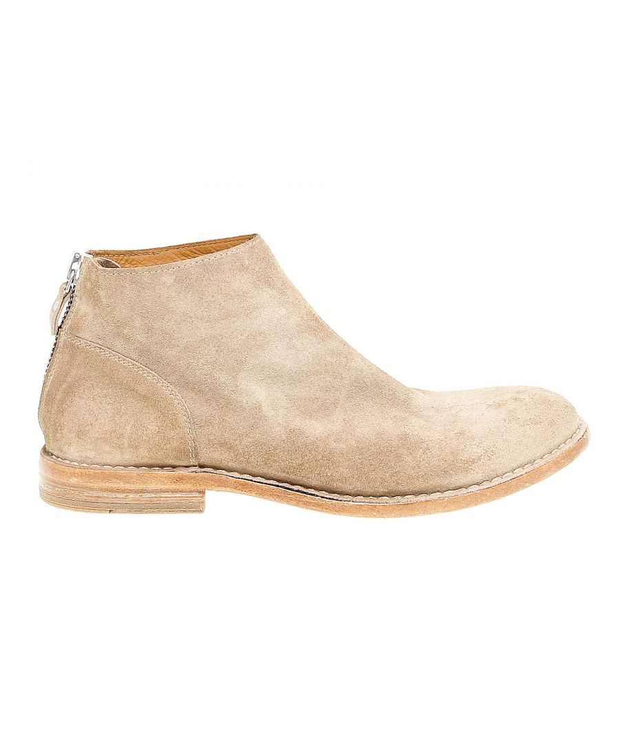 Image for MOMA MEN'S 14803 BEIGE SUEDE ANKLE BOOTS