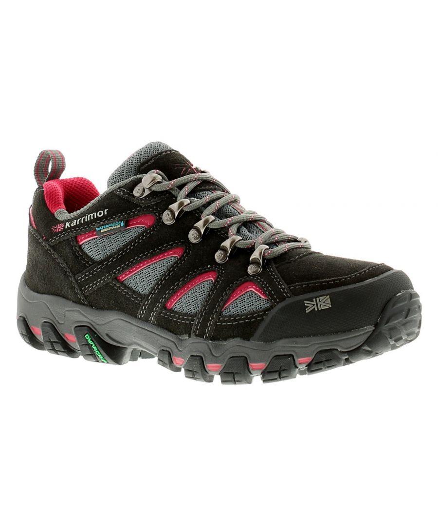 Image for Karrimor Bodmin Low5 Ladies W Womens Ladies Walking Hiking Shoes Grey