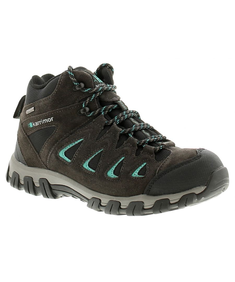 Image for Ladies Womens Walking Boots Hinkin Trek Mid Cut Tie Up