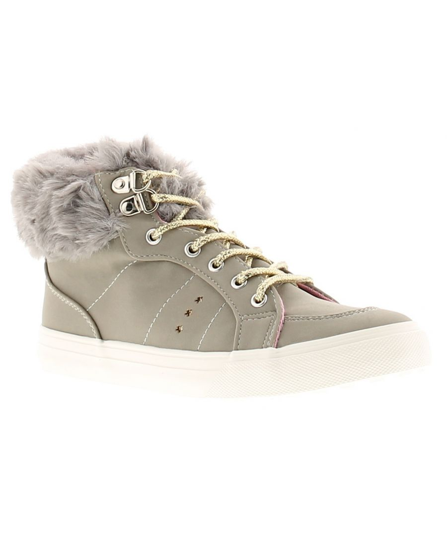 Image for Buckle My Shoe jodie hightop girls kids ankle boots grey
