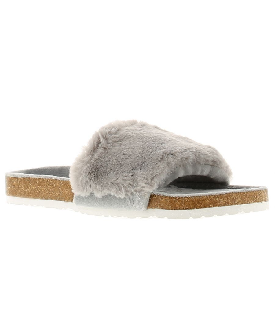 Image for Wynsors luxe womens ladies mule slippers grey