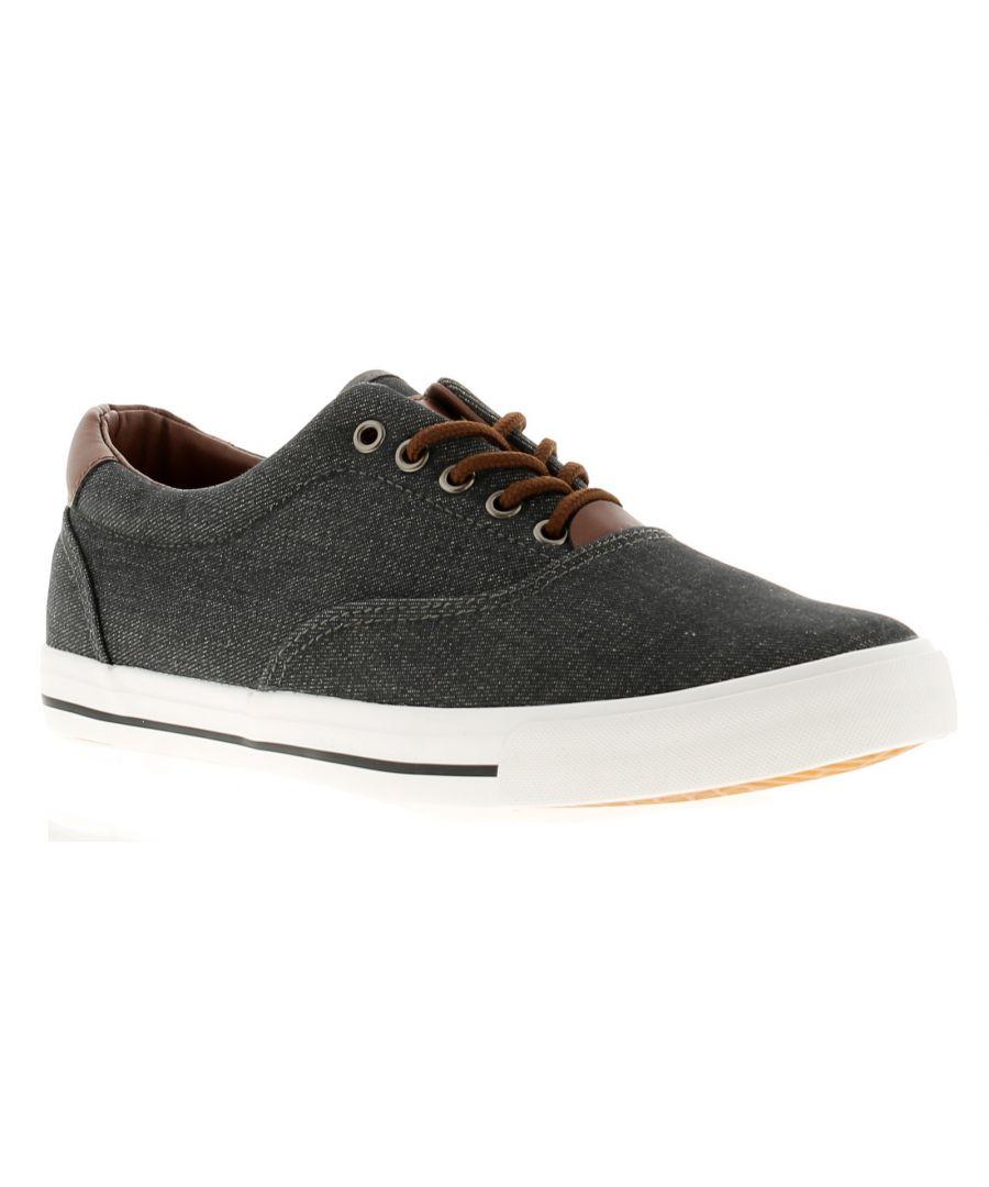 Image for Rockstorm Clark Mens Canvas Shoes Grey