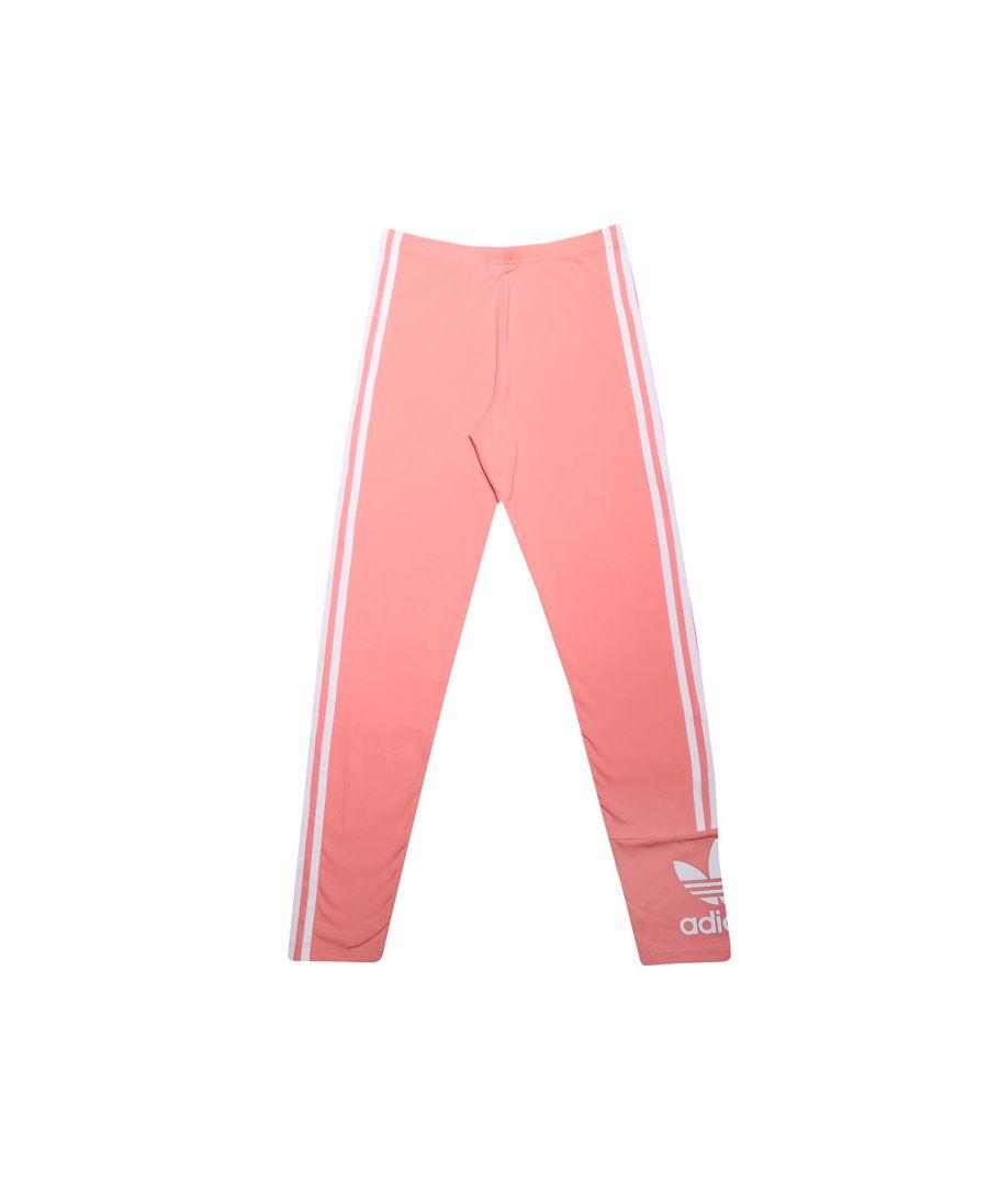 Image for Girls' adidas Originals Junior Lock Up Tights Pink White 13-14In Pink White