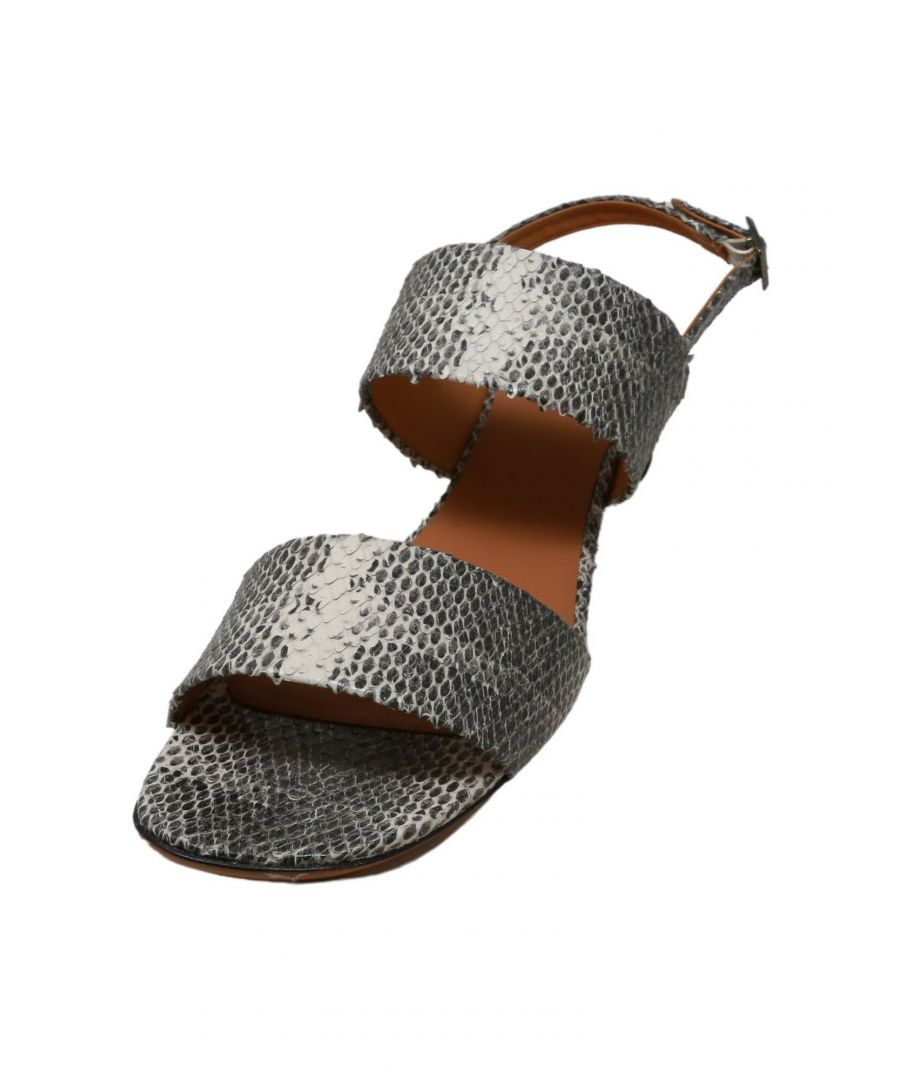 Image for Clergerie Paris Women's Leonieco Snake Print / Double Gold Ankle-High Snakeskin Heel - 7.5M