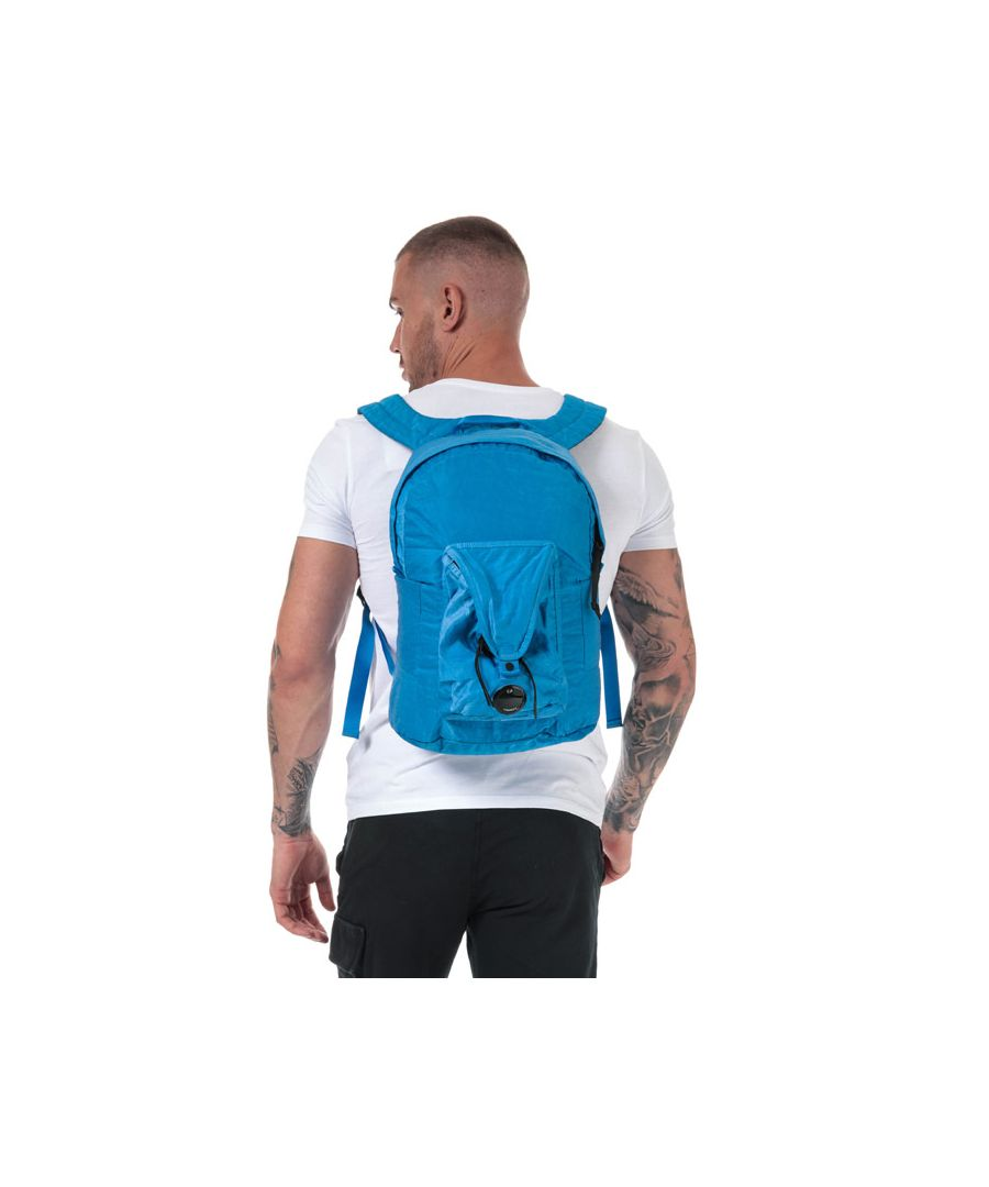 Image for Accessories C.P. Company Garment Dyed Nylon Sateen Backpack in Blue