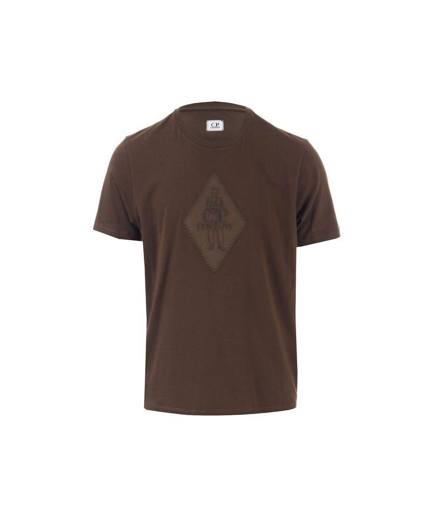 Image for Men's C.P. Company Sailor Patch Logo T-Shirt in Khaki