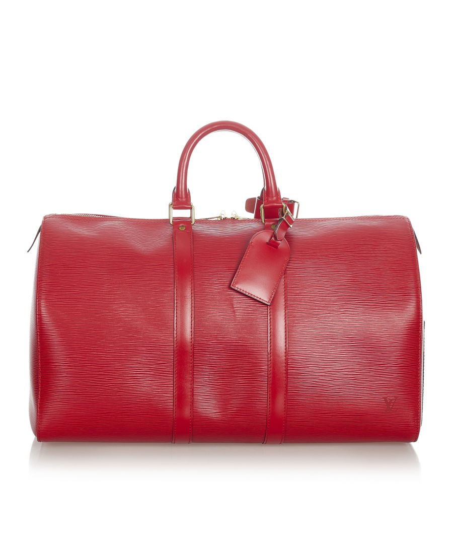 Image for Vintage Louis Vuitton Epi Keepall 50 Red