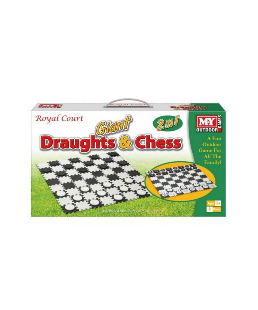 Image for Giant 2 in 1 Draughts and Chess Game