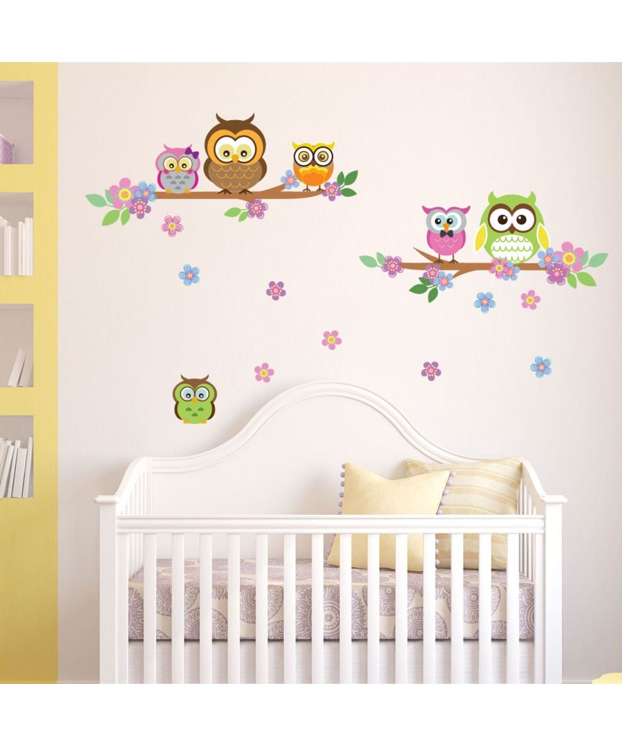 Image for Owl flower Tree Self Adhesive DIY Wall Sticker, Kids bedroom