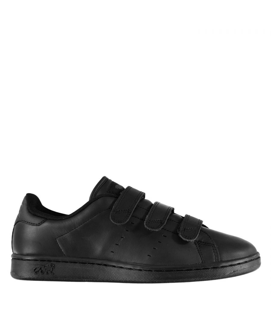 Image for Lonsdale Kids Leyton Junior Football Trainers Boys Leather Upper Sport Shoes