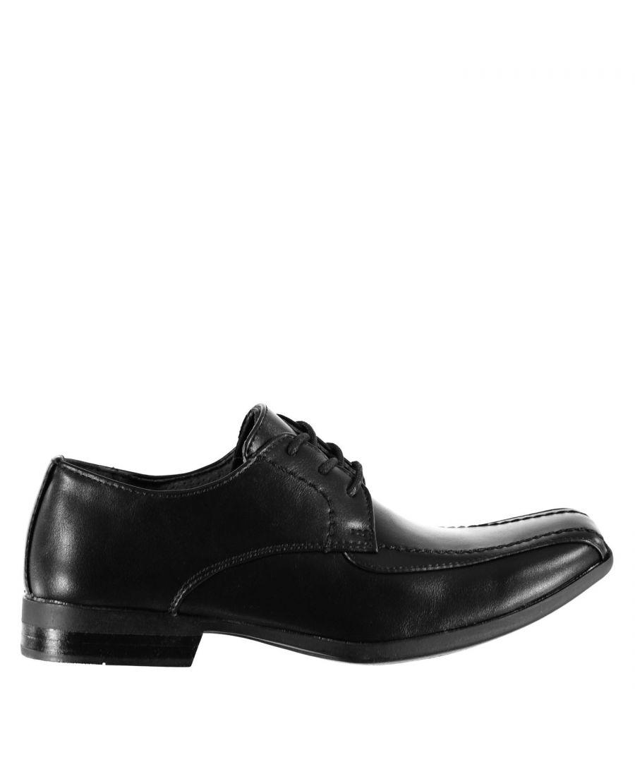 Image for Giorgio Kids Bourne Junior Boys Shoes Classic Design Smart Lace Up Slight Heel