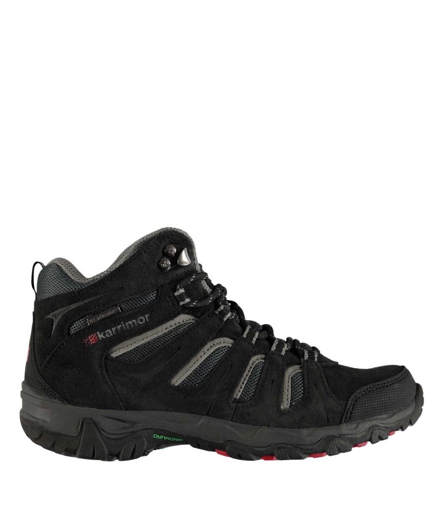 Image for Karrimor Kids Mount Mid Junior Walking Shoes Boots Lace Up Breathable Waterproof