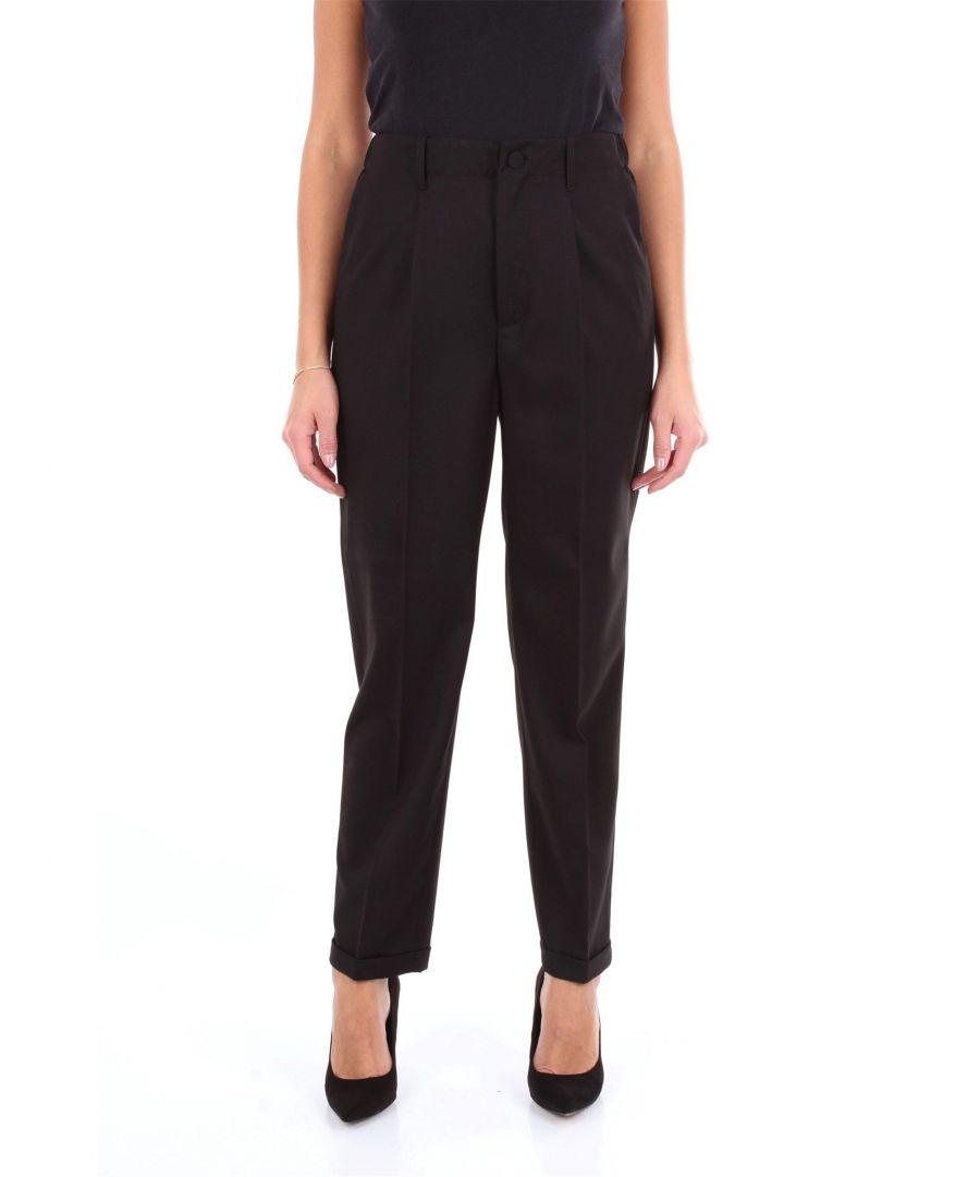 Image for BLUMARINE WOMEN'S 4360NERO BLACK VISCOSE PANTS