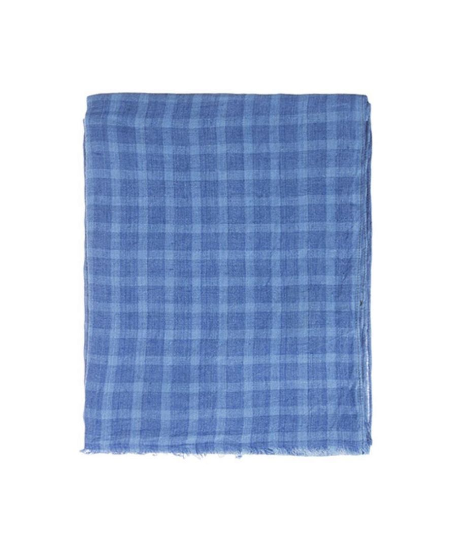 Image for Men's Hackett, Check Big Scarf in Multi Blue