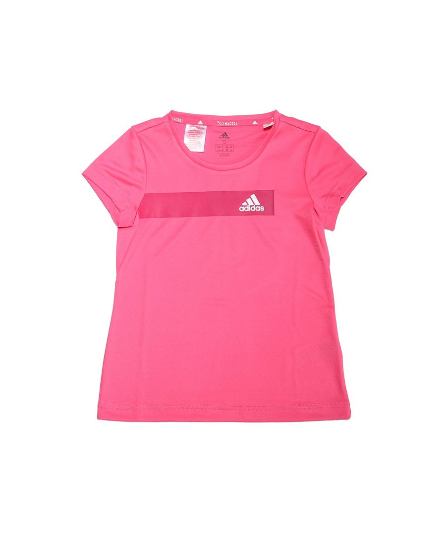 Image for Girl's adidas Infant Training Cool T-Shirt in Pink