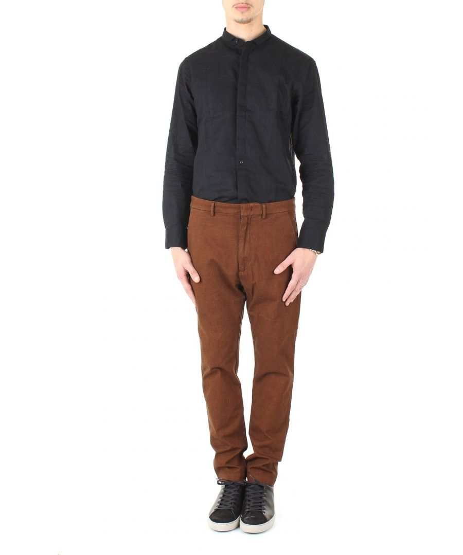 Image for PENCE MEN'S 83796P095 BROWN COTTON JEANS
