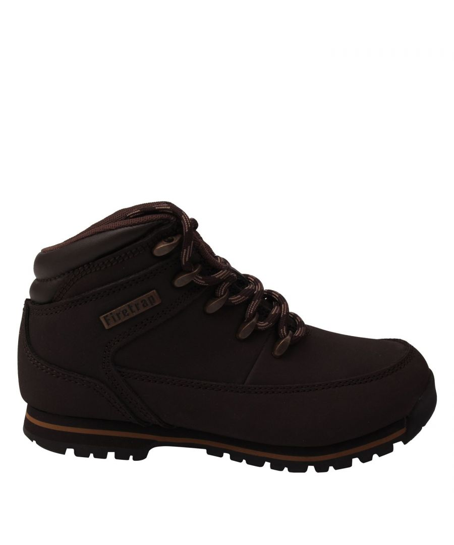 Image for Firetrap Boys Rhino Junior Boot Rugged Lace Up Casual Leather Padded Ankle Shoes