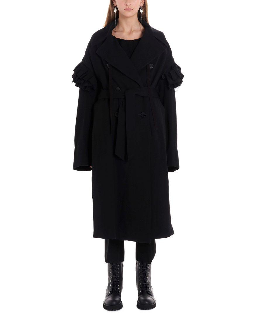 Image for ANN DEMEULEMEESTER WOMEN'S 19021124P167099 BLACK WOOL COAT