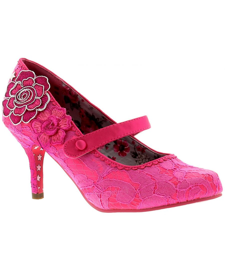 Image for floozie womens ladies heels court shoes pink