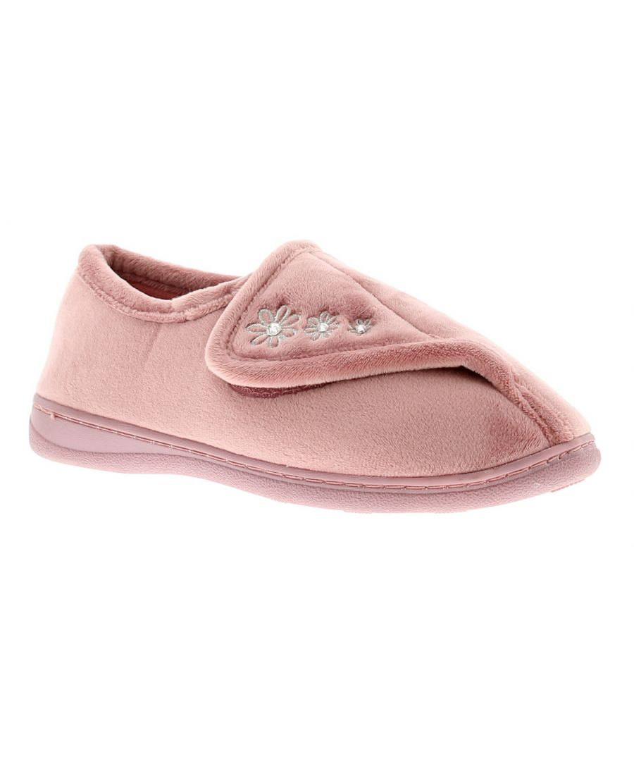 Image for Strollers Aloha Womens Ladies Full Slippers Pink