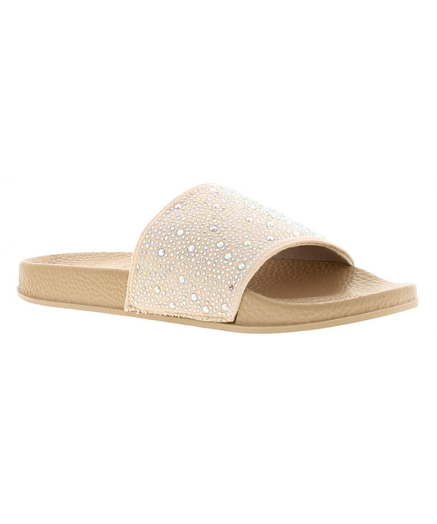 Image for Comfort Plus Gia Womens Ladies Jelly Sandals Nude