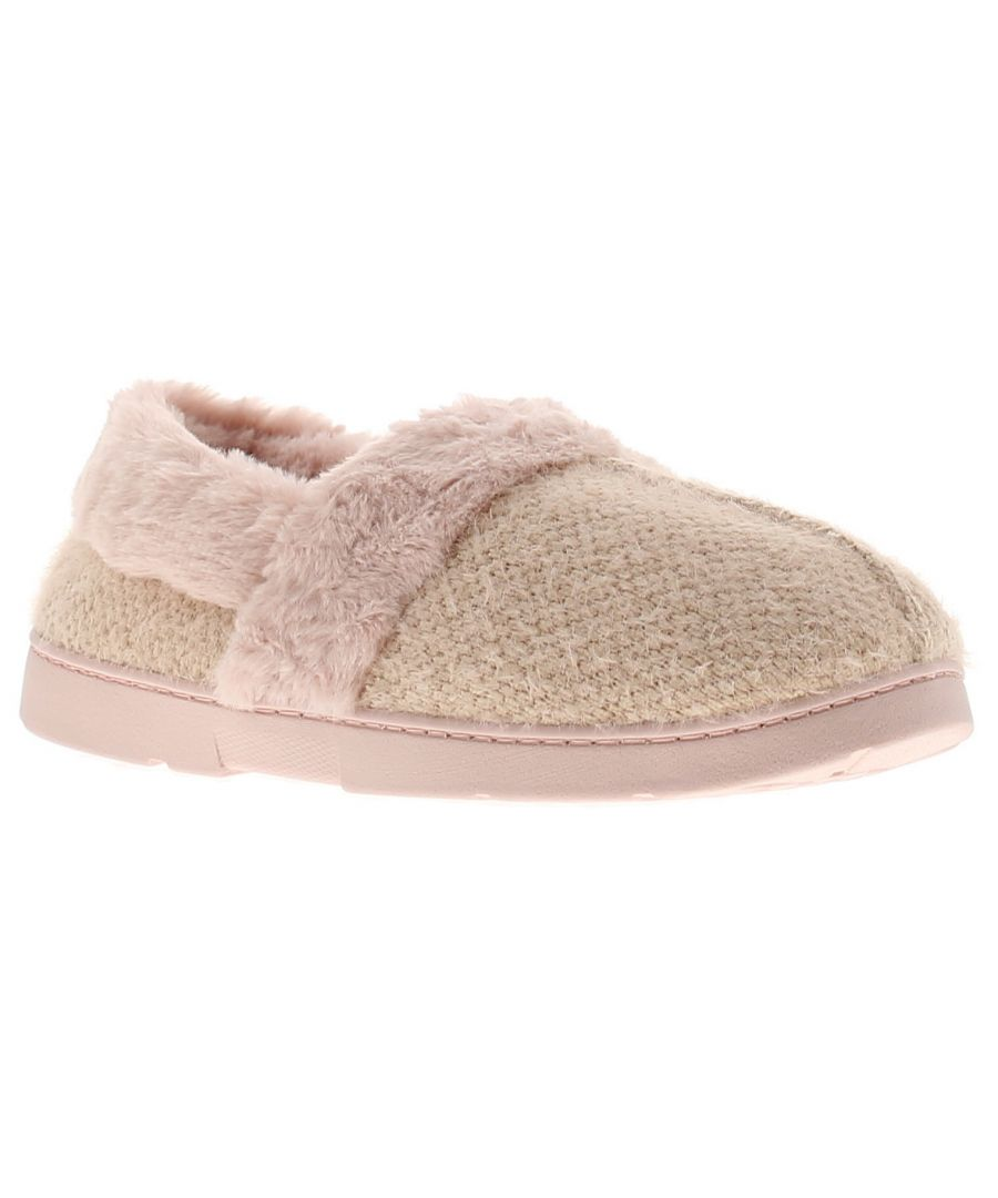 Image for Dr Keller dee womens ladies full slippers pink