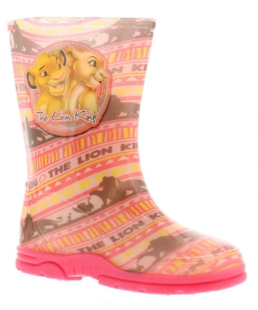 Image for Wynsors lk liada girls kids wellies wellington boots pink