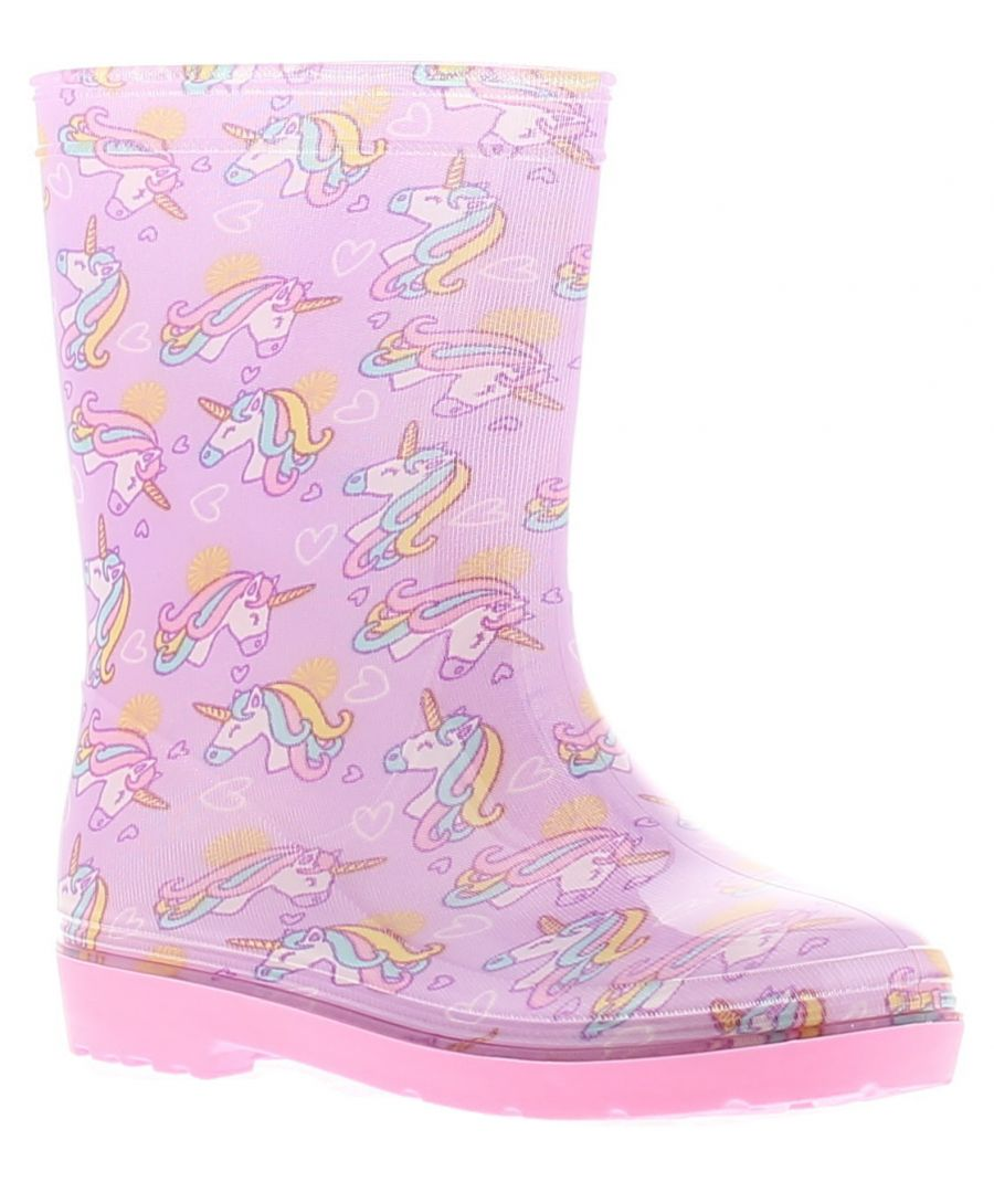 Image for Princess Stardust ps fantasy girls kids wellies wellington boots pink