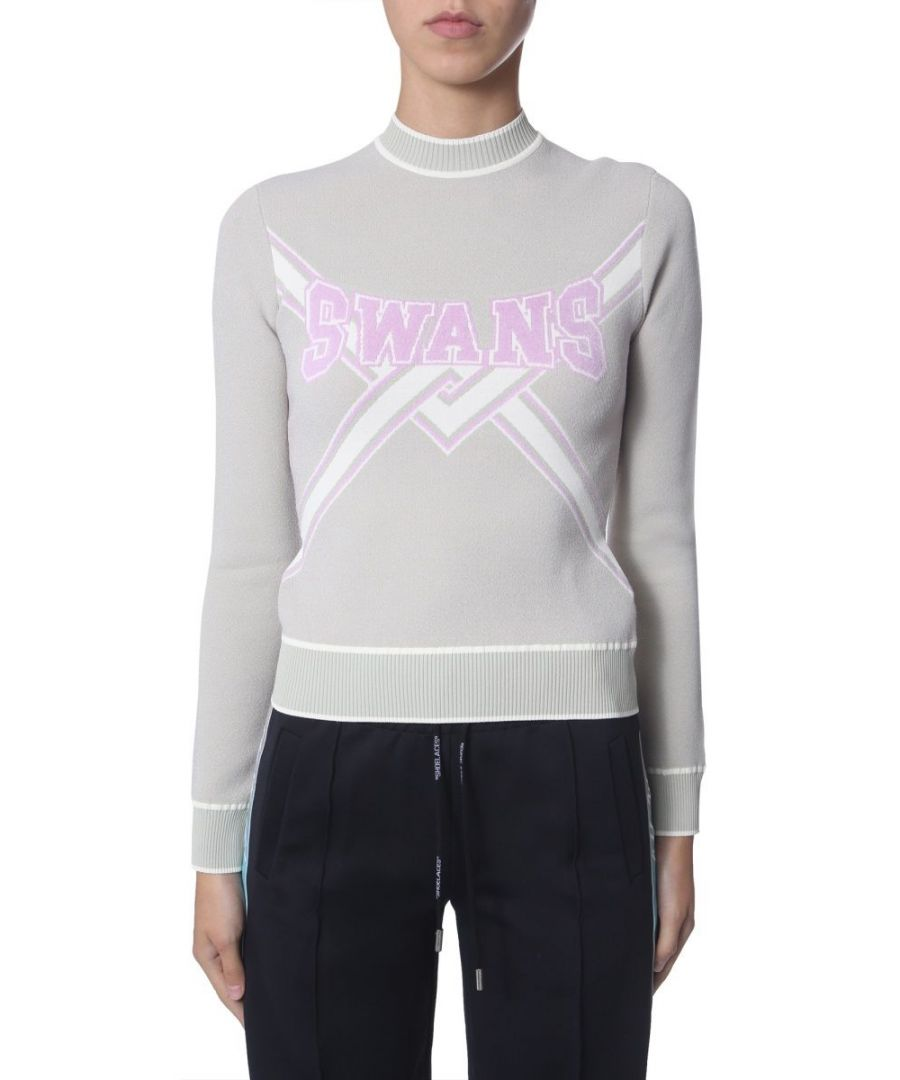 Image for OFF-WHITE WOMEN'S OWHE013E19B700734125 GREY VISCOSE SWEATER