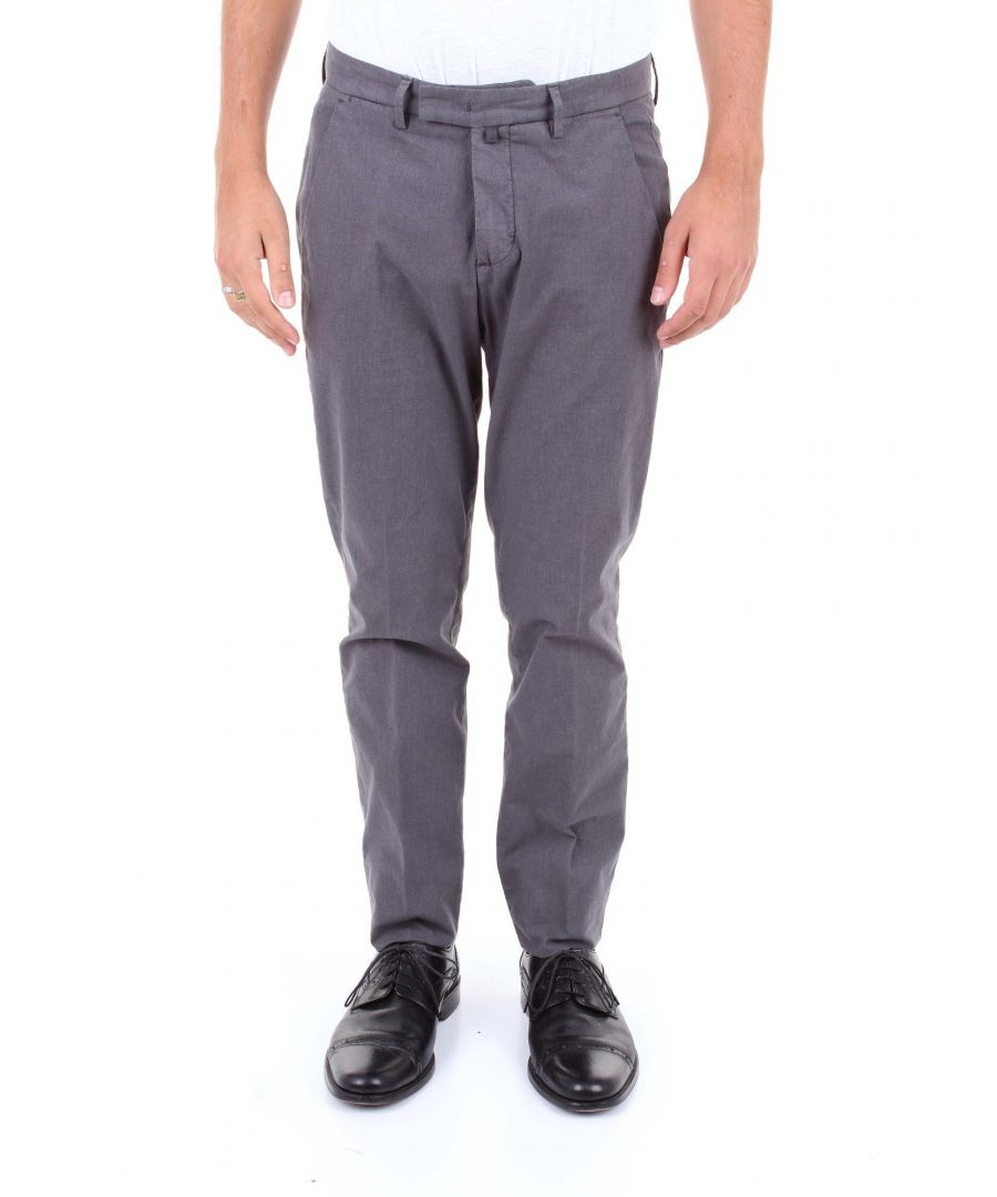 Image for BRIGLIA 1949 MEN'S BG033934GRIGIOSCURO GREY COTTON PANTS