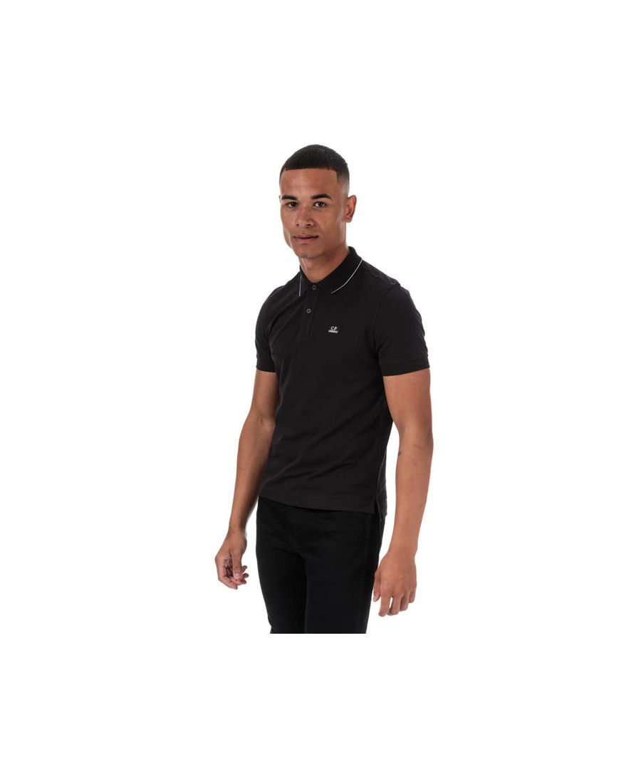 Image for Men's C.P. Company Stretch Pique Polo in Black