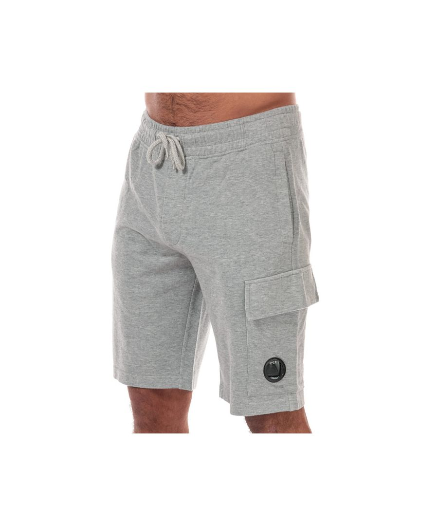 Image for Men's C.P. Company Lens Cargo Shorts in Grey