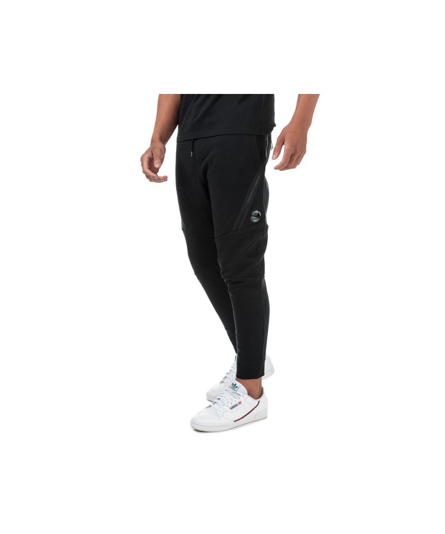Image for Men's C.P. Company Diagonal Fleece Jog Pants in Black