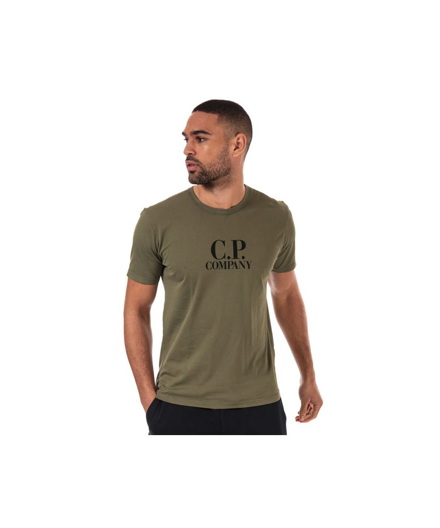 Image for Men's C.P. Company Large Logo T-Shirt in Green