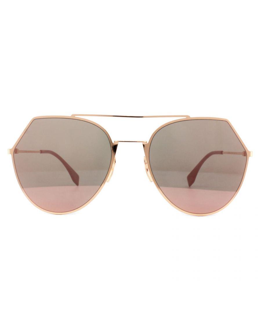 Image for Fendi Sunglasses Eyeline FF 0194/S DDB AP Gold Copper Silver