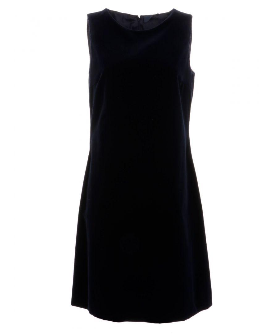 Image for ASPESI WOMEN'S G2937G56101036 BLUE COTTON DRESS