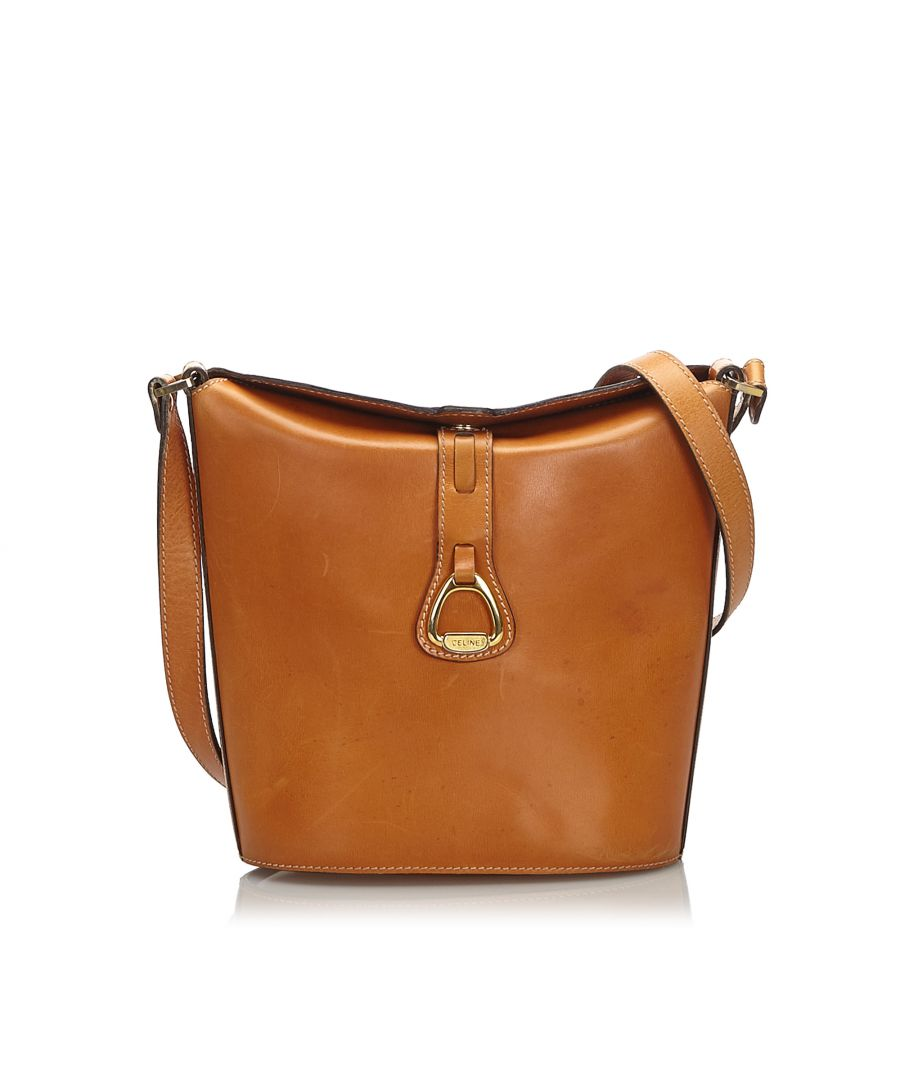 Image for Vintage Celine Leather Shoulder Bag Brown