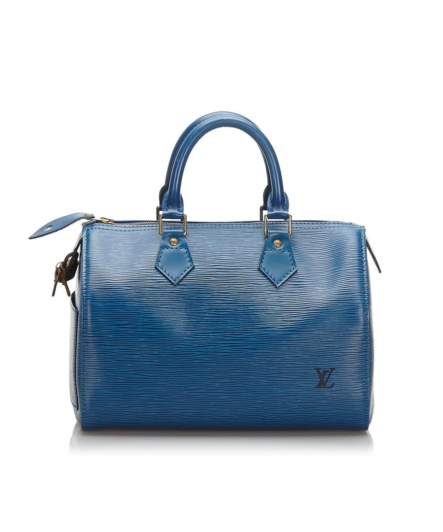 Image for Vintage Louis Vuitton Epi Speedy 25 Blue
